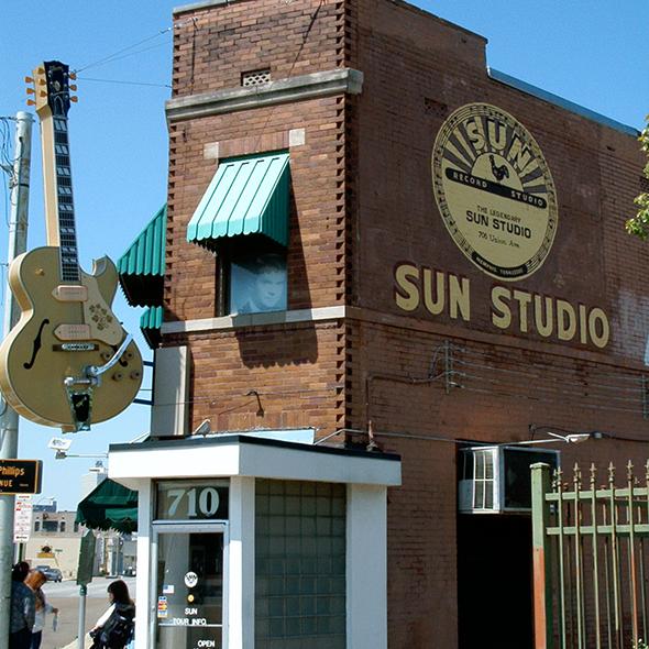O Sun Studios é um verdadeiro panteão do rock n' roll. Foto de JeremyA, via Wikimedia Commons.